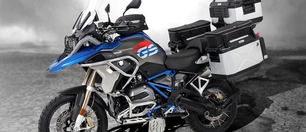 BMW R1200GS Luggage - Xplorer Straight Sidecase Set (Silver)