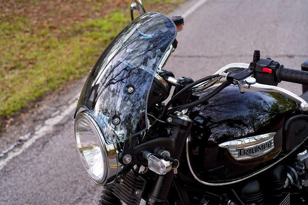 Triumph Bonneville T100 Screen - Marlin Flyscreen - Bike 'N' Biker
