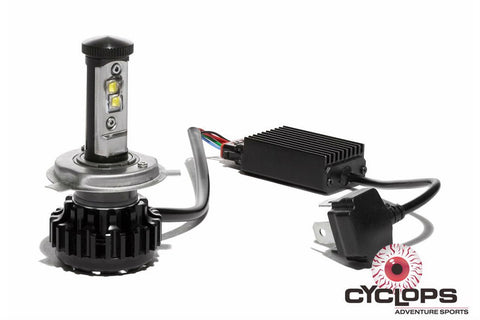 Bulb LED H4 3800 Headlight Bulb HID - Plug and Play Cyclops