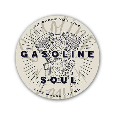 Gasoline Soul - Sticker - Inline-4