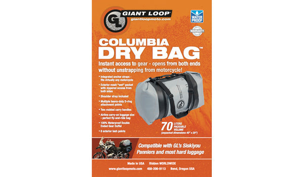 Duffle 70L Dry Bag  Columbia by GiantLoop