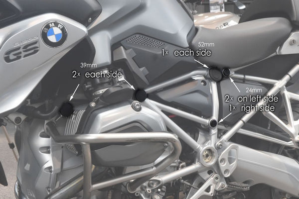 BMW R1200GS Styling - Frame End Caps - Pyramid Plastics
