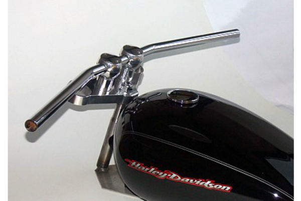 Handlebar 25.4mm Drag - LD1 | Steel | Chrome | 1inch - Bike 'N' Biker