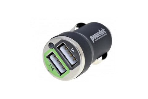 Cigartette Adapter to Dual USB Type 2.1A/1A - Powerlet - Bike 'N' Biker