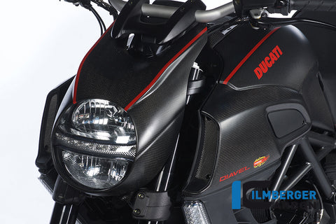 Carbon Headlight Cover for Ducati Diavel - Ilmberger Carbon