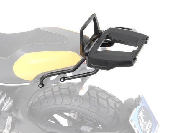 Ducati Scrambler/Desert Sled Alu Rack top case carrier black Hepco Becker