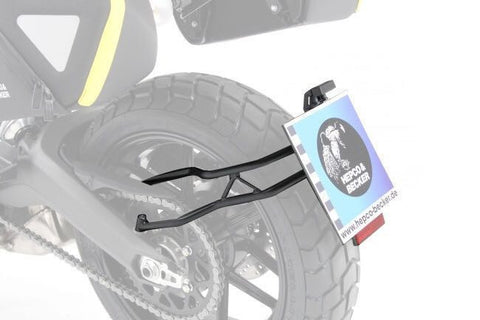 Ducati Scrambler/Desert Sled License plate holder Hepco Becker