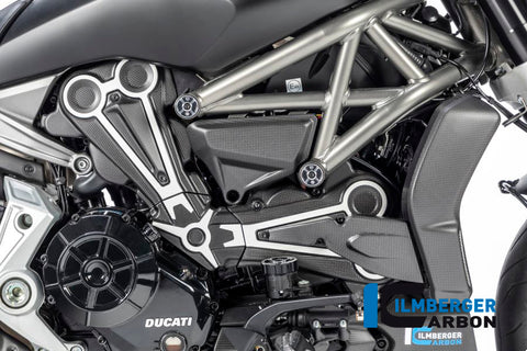 Cam Belt Covers with Chrome Decal for Ducati XDiavel - Ilmberger Carbon