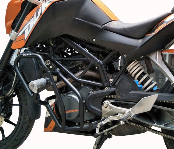KTM Duke 2013-2016 Engine Protection Bar (Black) - Zana