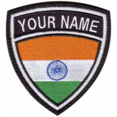 India Flag Name Patch - Bike 'N' Biker