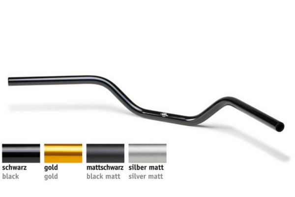 Handlebar 25.4mm Flat Track - A14 | Aluminium | 4 colours | Slotted - Bike 'N' Biker