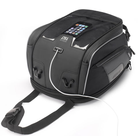 XS307 Tanklock Expandable Tank Bag – XStream Range, 15 Litres - Givi