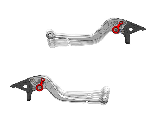 Ducati Monster 1200 Levers - Long & Short Version (pair)