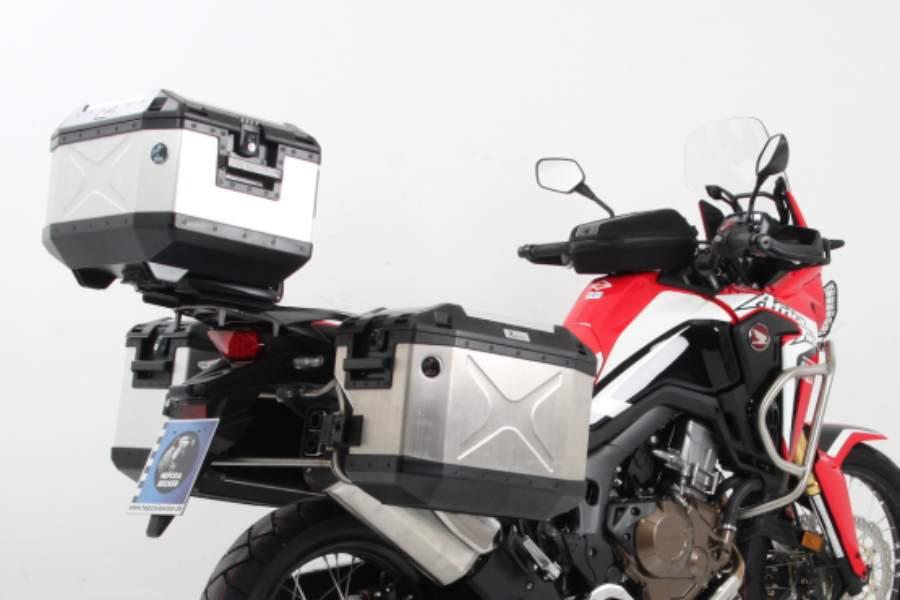 Honda CRF 1000L Africa Twin Topcase carrier - Fixed Hinge (Alu Rack) - Bike 'N' Biker
