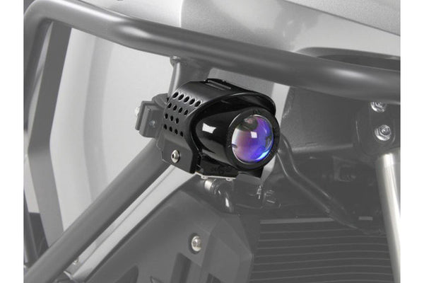 Aux HID Fog Lights Ion Blue Flooter by Hepco Becker - Bike 'N' Biker