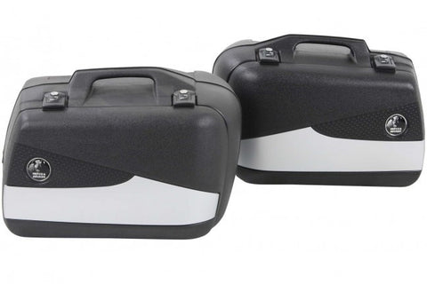 Sidecases 40L Junior Flash silver (Pair) - Bike 'N' Biker