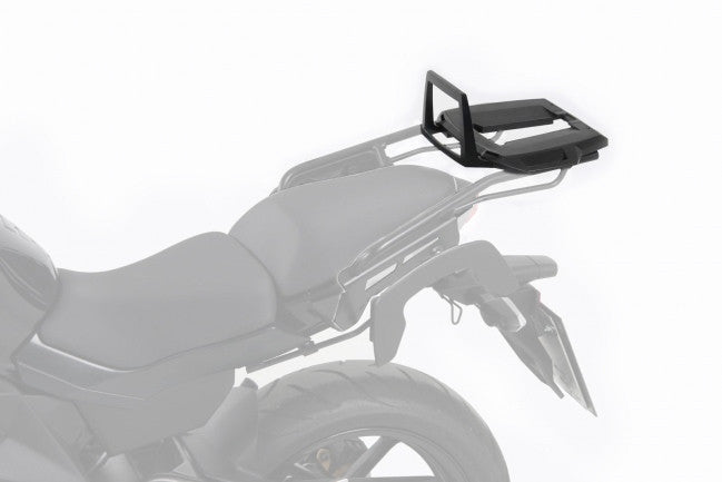 Kawasaki ER 6n Alu Rack top case carrier black Hepco Becker - Bike 'N' Biker