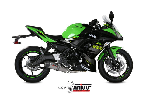 Oval Full System Exhaust for Kawasaki Ninja 650 - Mivv