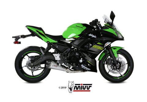 Delta Race Full System Exhaust for Kawasaki Ninja 650 - Mivv