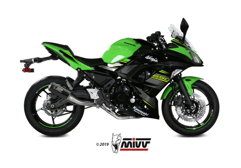 MK3 Full System Exhaust for Kawasaki Ninja 650 - Mivv