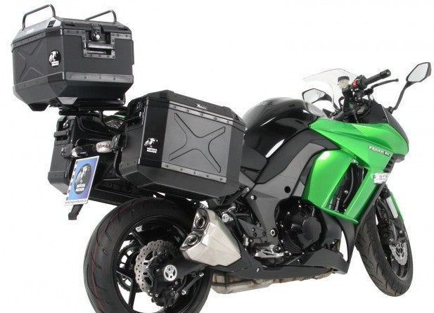 Kawasaki Ninja 1000 Alurack Top Case Carrier Black Hepco Becker