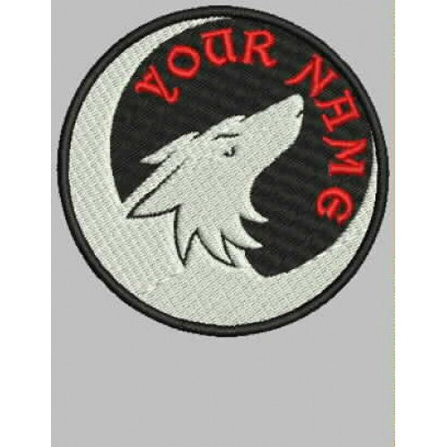 Lone Wolf Name Patch - Bike 'N' Biker