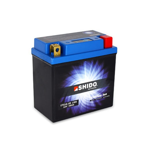 Shido Lithium Motorcycle Battery - LTX14LBS LI-ON - Bike 'N' Biker
