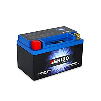 Shido Lithium Motorcycle Battery - LTX14BS LI-ON - Bike 'N' Biker