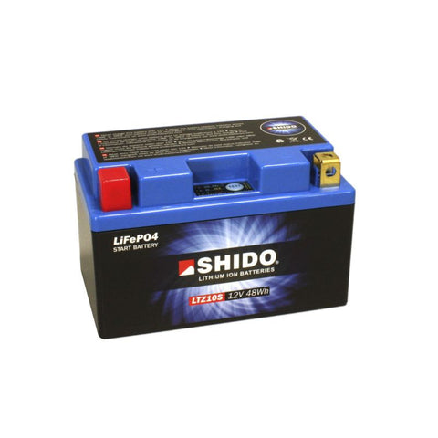 Shido Lithium Motorcycle Battery - LTZ10S LION