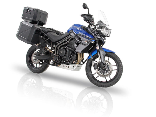 Sidecases 40L Xplorer Series Black Aluminium (per side) - Bike 'N' Biker