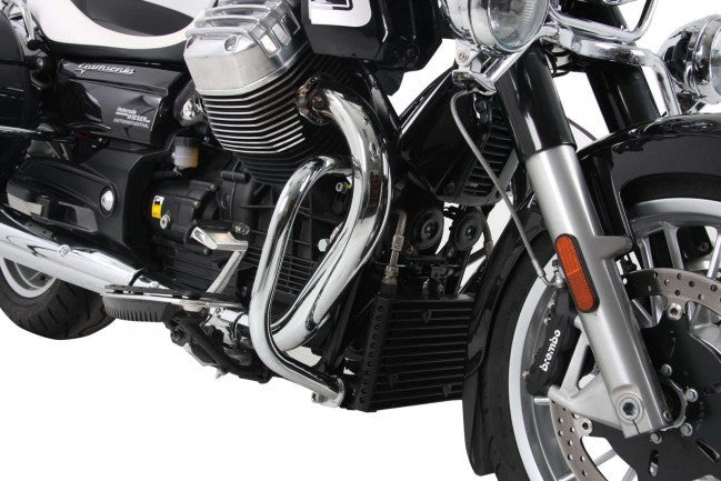 MOTO-GUZZI California 1400 Custom & Touring Engine protection bar chrome Hepco Becker - Bike 'N' Biker