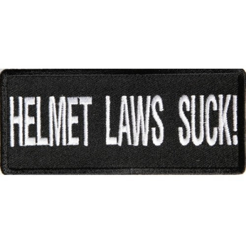 Helmet Laws Patch - Bike 'N' Biker