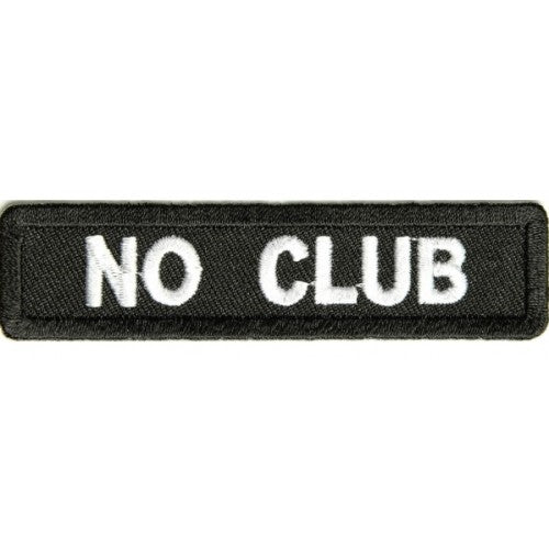 No Club Patch - Bike 'N' Biker