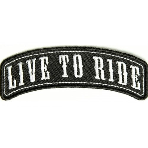 Live to Ride Patch - Bike 'N' Biker