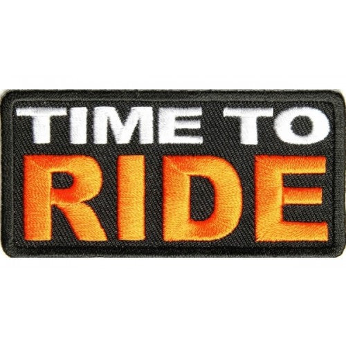 Time To Ride Patch - Bike 'N' Biker