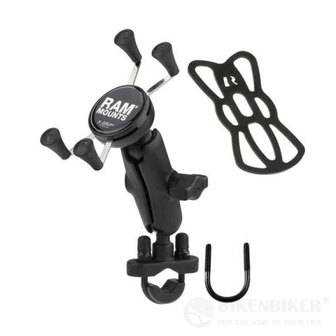 X-Grip® Phone Mount with Handlebar U-Bolt Base - Standard - RAM Mounts