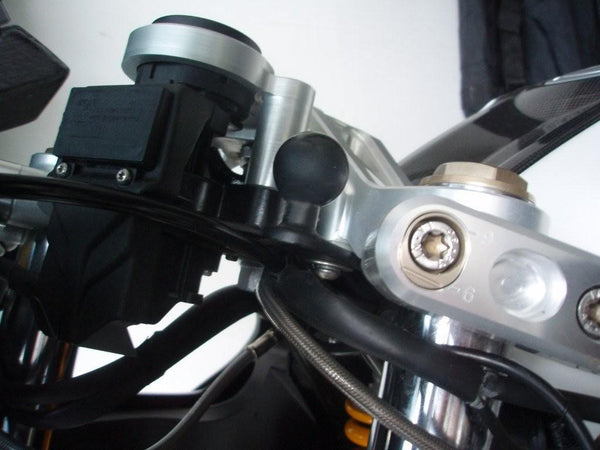 "RAM Mirror Base with 11 mm Hole 2.25"" x 0.87"" - Bike 'N' Biker"