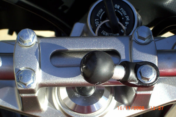 "RAM MIRROR Base with 9mm Hole and 1"" Ball - Bike 'N' Biker"