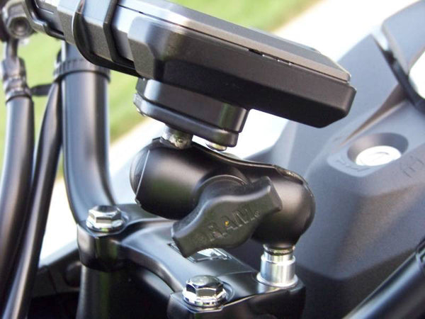RAM Motorcycle Handlebar Clamp Base with M8 Screws - Bike 'N' Biker