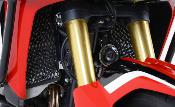 Stainless Steel Radiator Guards for the Honda Africa Twin 2016 - - R&G Racing - Bike 'N' Biker