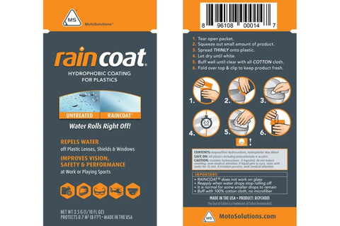 Rain Coat For Helmet Visors, Windscreen and Plastics