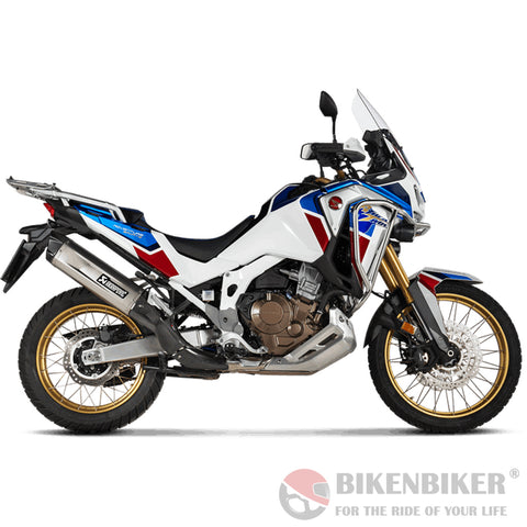 Honda CRF1100L Africa Twin Adventure Sports 2020+ - Slip-On Line (Titanium) - Akrapovič