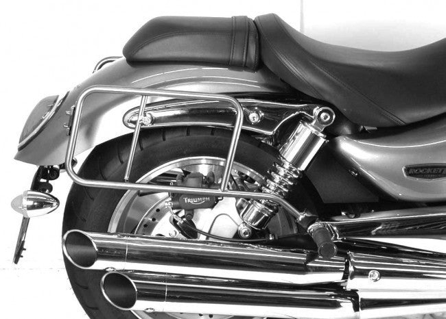 Triumph Rocket III Roadster Side carrier chrome Hepco Becker - Bike 'N' Biker