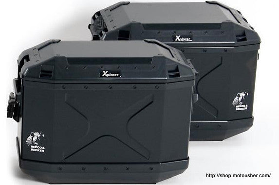 Sidecases 30L Xplorer Aluminium Series Black (per side) - Bike 'N' Biker
