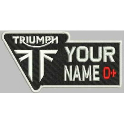 Triumph Name and Blood Group Patch - Bike 'N' Biker