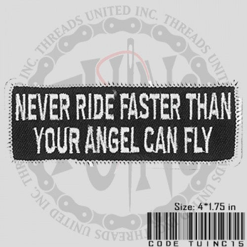 Never Ride Faster Patch - Bike 'N' Biker