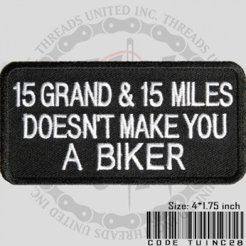 15 Grand Patch - Bike 'N' Biker