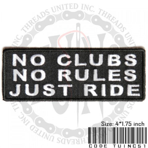 No Club #2 Patch - Bike 'N' Biker