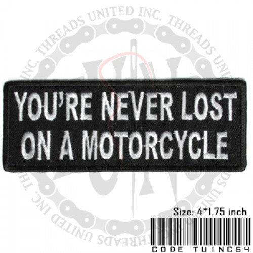 Never Lost Patch - Bike 'N' Biker
