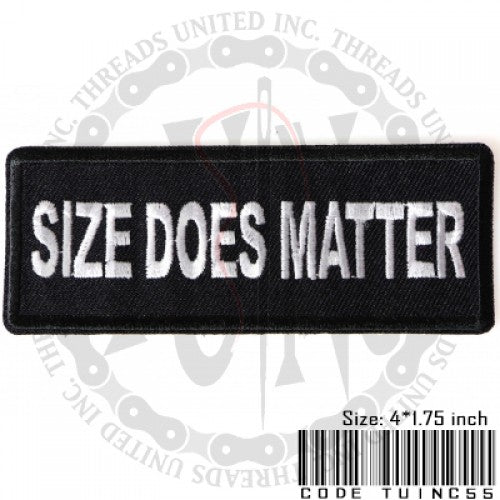 Size Does Matter Patch - Bike 'N' Biker